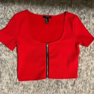 Forever 21 Tops - ✨2/$15✨ F21 Red Crop Top